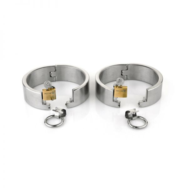 BDSM (БДСМ) - <? print Female Ellipse Stainless Steel Heavy Duty Ankle Restraints Oval Shaped with Brass Lock Joints; ?>