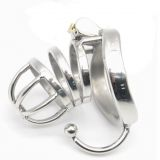 BDSM (БДСМ) - Stainless Steel Male Chastity Cage with Base Arc Ring Devices