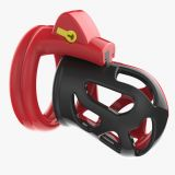 БДСМ - Male Chastity Device Cocks Cage Red