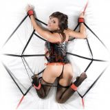 BDSM (БДСМ) - spider web bondage bed wrist and ankle restraints
