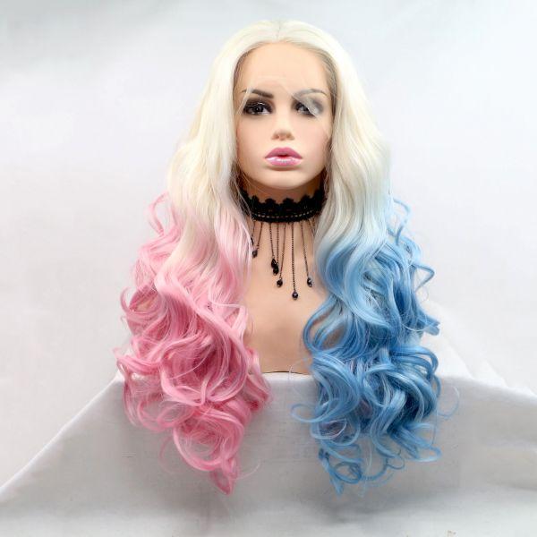 Реалистичный парик на сетке Харли Квин (Harley  Quinn)