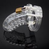 Мужское устройство целомудрия с перфарированной конструкцией, прозрачное по оптовой цене