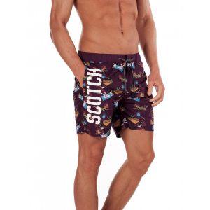 Мужские плавательные шорты Scotch & Soda Swim Shorts-Bordeaux