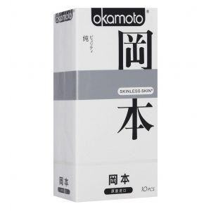 Презервативы Okamoto Skinless Skin Purity, классические, 3 шт