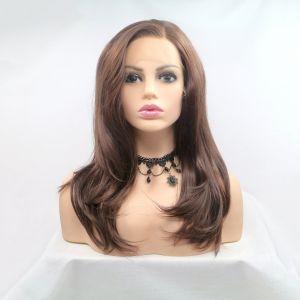 Каштановый парик средней длинны с легкой волной - СВЕЖИЕ ПОСТУПЛЕНИЯ!