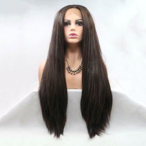 Длинный парик из темно коричневых волос на сеточке - СВЕЖИЕ ПОСТУПЛЕНИЯ!