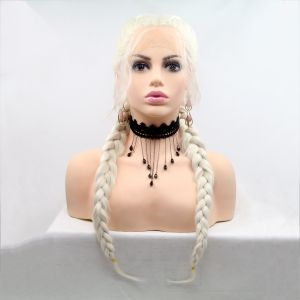 Парик с двумя длинными колосками в цвете пепельный блонд - СВЕЖИЕ ПОСТУПЛЕНИЯ!