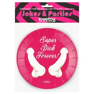 Super Dick Forever Bachelorette Paper Plates(Pack of 6)