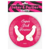Super Dick Forever Bachelorette Paper Plates(Pack of 6) по оптовой цене
