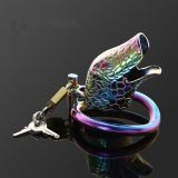 БДСМ - stainless steel latest multicolour ophicephalous chastity device