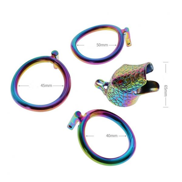 BDSM (БДСМ) - <? print stainless steel latest multicolour ophicephalous chastity device; ?>