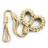 BDSM (БДСМ) - new braided rope handcuffs Yellow